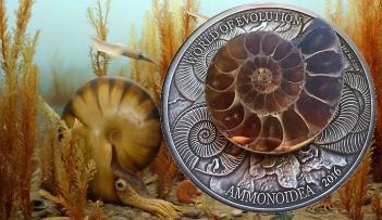 AMMONITE World of Evolution 1 Oz Silver Coin