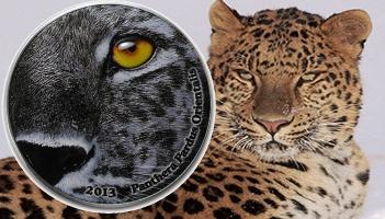 l2 oz Silver Natures Eyes - Amur Leopard Panthera