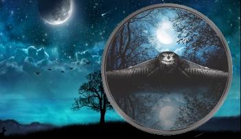 OWL Night Hunters 3 Oz Silver Coin