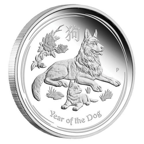 YEAR OF THE DOG Lunar Year Series II 1 oz Silver Coin Australia 2018