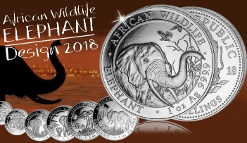 2018 ELEPHANT - The African Wildlife 1 oz .9999 Silver Coin Somalia