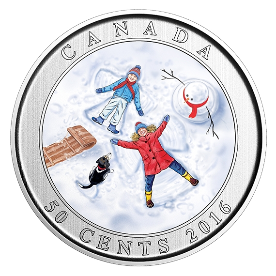 SNOW ANGELS - 50-Cent Lenticular Coin - RCM Canada 2016