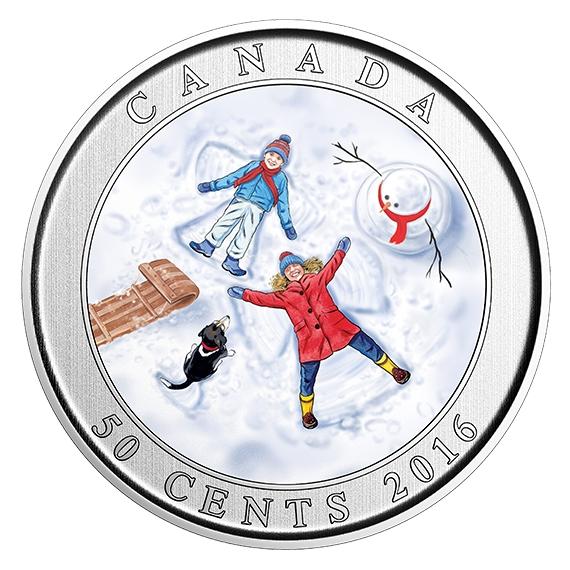 SNOW ANGELS - 50-Cent Lenticular Coin - RCM Canada 2016