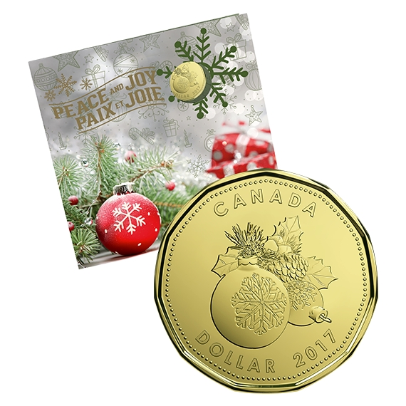 HOLIDAY GIFT SET - SPECIAL STRUCK LOONIE Canada 2017