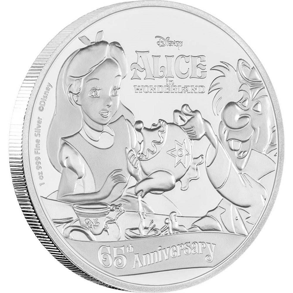 Alice in Wonderlad 65th. Ann. - DISNEY - Niue 2016 1 oz Silver Coin