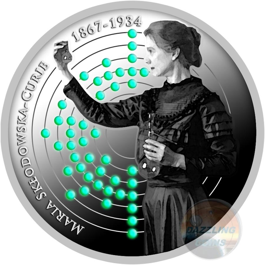 BIRTH OF MARIE SKLODOWSKA CURIE 150th Ann. Silver Coin 500 Francs Cameroon 2017