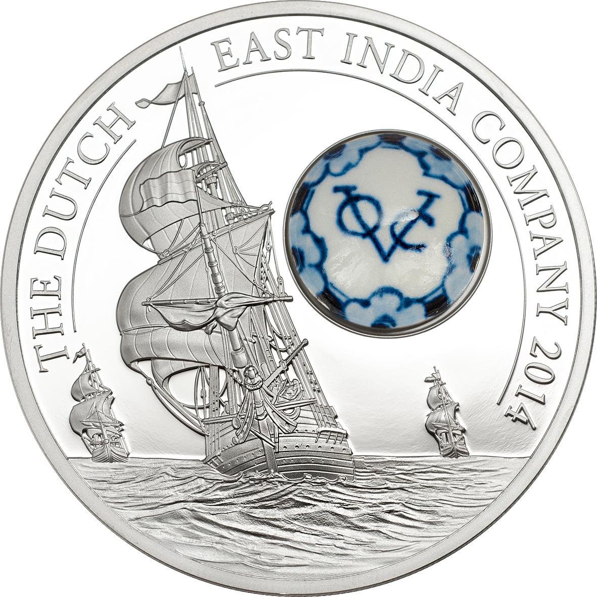 Royal Delft Dutch East India Co. Silver Coin
