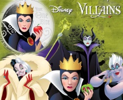 EVIL QUEEN DISNEY VILLAINS 1 OZ SILVER COIN 2018 NIUE