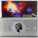FERMI GAMMA RAY - SHADES OF SPACE 1 OZ SILVER COIN 5$ SAMOA 2018