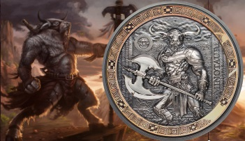 Palau MINOTAUR Mythical Creatures Ultra High Relief 2 Oz Silver Coin 10$ 2016
