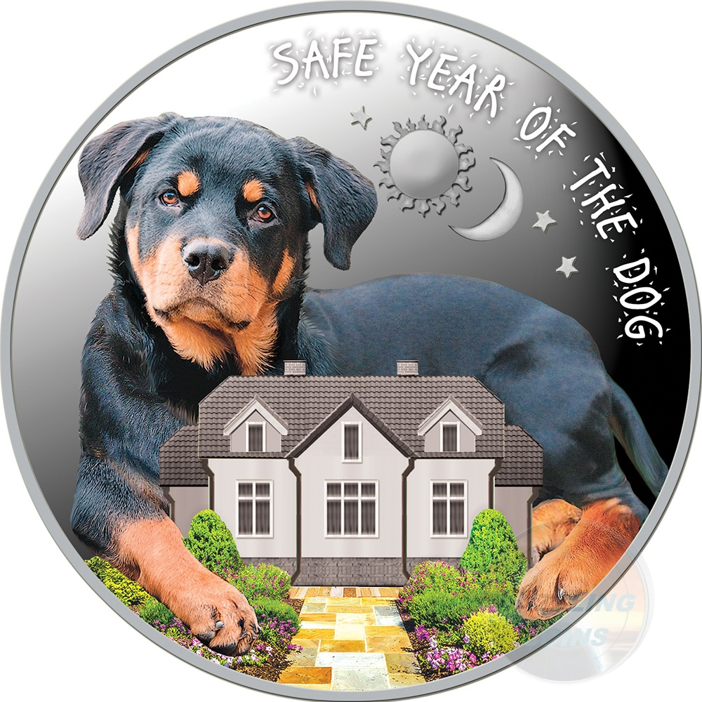 SAFE YEAR OF THE DOG Silver Proof Coin 100 Denars Macedonia 2018