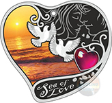 SEA OF LOVE SILVER PROOF COIN 1$ NIUE 2017