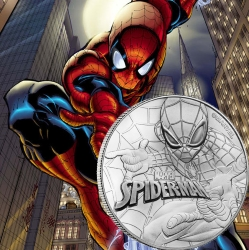 SPIDERMAN Marvel Series 2017 1 oz Tuvalu Silver Coin .999 Fine Silver