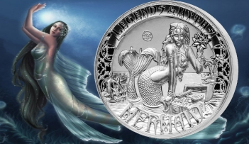 MERMAID Legends & Myths 2 Oz Silver Coin 5$ Solomon Islands 2016