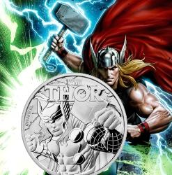 THOR Marvel Series 2018 1 oz Tuvalu Silver Coin .999 Fine Silver