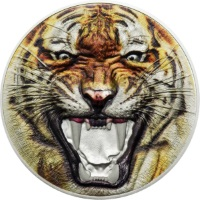THE BENGAL TIGER RARE WILDLIFE 2 OZ .999 SILVER 2017 TANZANIA