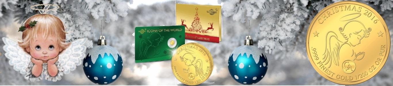 Pure Gold Christmas Coin - 10 Francs 2016 Republic of Rwanda